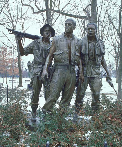 Three Servicemen statue by Frederick Hart at the Vietnam Veterans Memorial