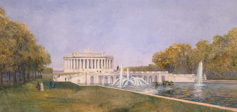 McMillan Commission plan for the Lincoln Memorial
