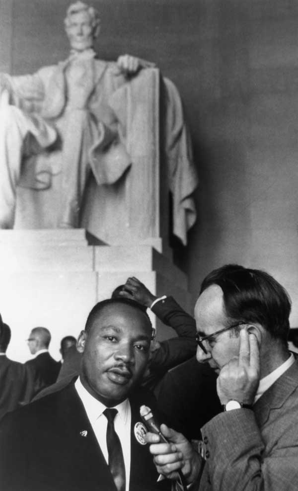 Martin Luther King Jr. at the Lincoln Memorial for his I Have a Dream speech