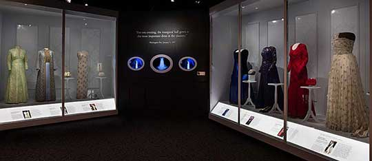 First Ladies exhibit at the Smithsonian American History museum