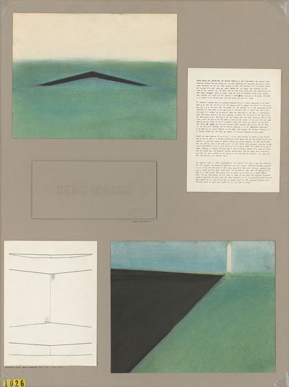 Maya Lin's design for the Vietnam Veterans Memorial