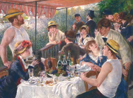 Luncheon of the Boating Party by Renoir at the Phillips Collection