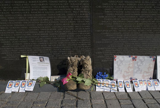 items left at the Vietnam Veterans Memorial