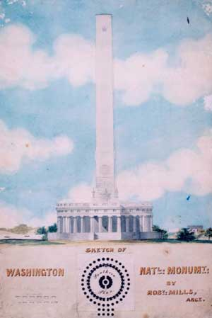 Robert Mills's plan for the Washington Monument