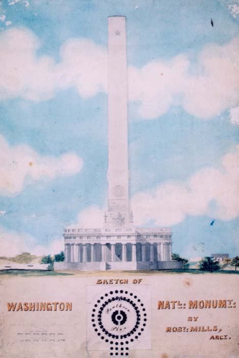 design by Robert Mills for the Washington Monument